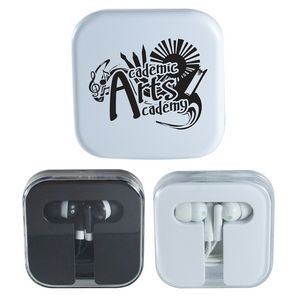 Earbuds in Acrylic Case
