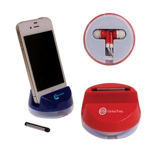 Earbud/Cell Phone Stand Travel Case