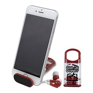 """ExCell"" Earbud Set & Phone Stand"